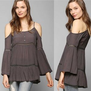 UO Staring at Stars cold shoulder tunic top